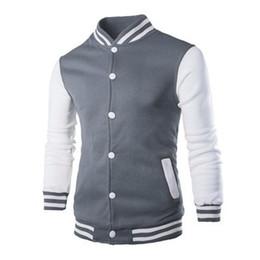 6cae7fac02d9 Wholesale- 2016 New Bomber Jacket Men Baseball Jacket Fashion Patchwork Manteau  Homme Spring and Autumn Men Coats