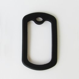 Wholesale Dog Piece - 100 pieces per lot Square Army Dog tag rubber silicone silencer for military Army Dog Tags