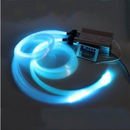Wholesale Led Rf Remote Bulb - Optic Fiber Lights LED RGB Fiber Optic Star Light 2*2M 0.75mm 150pcs Optics Fiber+32W RGB Light Engine+24Key RF Remote Novelty Lighting