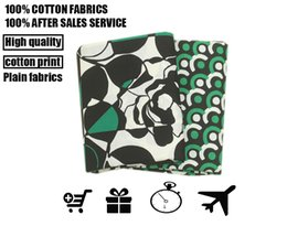 Wholesale Green Colored Roses - fabric vb Cotton High-quality Geometric rose black and green series printed fabrics clothing fabric, professional wholesale