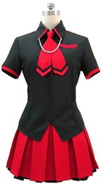 game anime girl sexy Promo Codes - Kukucos Anime Dress BLOOD-C The Last Dark Saya Uniform Cosplay Costume Sexy Suit For Girls Jung Women