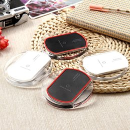 Wholesale Chinese Etc - 2017 Hot Sale Luxury Qi Wireless Charger Charging Pad Mini for Samsung S6 S7 Edge Plus S8 HTC Nokia etc US02 dhl free shipping
