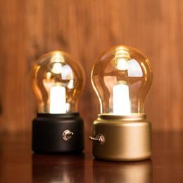 Wholesale Nostalgic Bulbs - Romantic British retro LED Bulb Lamp USB charging small night light lamp bulb lamp nostalgic atmosphere USB berth lamp lights DHL free