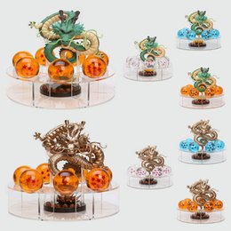 Wholesale Dragon Ball Shenron - 15cm Dragon Ball Z Shenron Action Figures Golden and green Dragonball Z Figures Set Dragon + 7pcs 4cm PVC Balls + Shelf toy