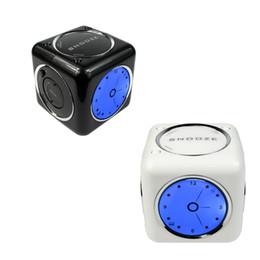 Wholesale Black Clock Radio - Wholesale-MINI FM Radio USB SD Card MP3 Player Multimedia Speaker with Alarm Clock Snooze Function Black White Radio Y4390A