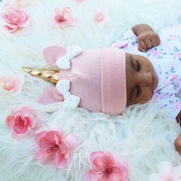 Wholesale Little Girls Wholesale Accessories - Little Baby Girls Unicorn Caps Kids Girls Princess Bow Hats Babies Autumn Photograph cap 2017 Kids Accessories