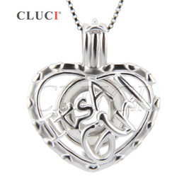 Wholesale Girls Fashion Jewelry Wholesale - Fashion Jewelry for Women of 3pcs sterling silver Heart shape for Girl cage pendant 20.2*18*8.2mm
