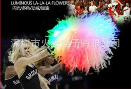Wholesale Cheerleading Pompoms - Free Shipping Game LED pompoms ( 20pcs lot) Cheering pom pom High quality Cheerleading supplies Color can choose
