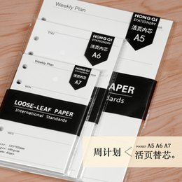 Wholesale A7 Notebook - Wholesale- Standard 6 Hole Notepad Hand Account Within Core Six Hole Notebook Within Page A5\A6\A7 Week Plan Loose-leaf For The Core