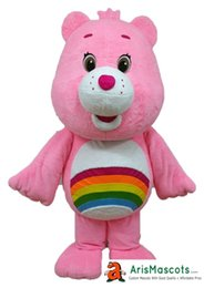 Wholesale Pink Care Bear Costume - 100% real pictures lovely Pink Care Bear mascot outfit, Care Bears mascots suit, fur mascot drop shipping