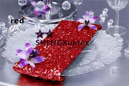 Wholesale Cheap Satin Fabric Wholesale - 100pcs Sale Sequin Table Napkin \ Cheap Wedding Table Cloth Napkin Decoration