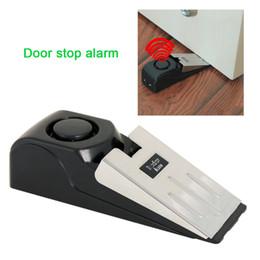 2019 système de sécurité à numérotation automatique Mini alarme sans fil déclenchée alarme de porte maison butée en forme de cale système d'alarme système de blocage de bloc noir