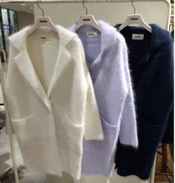 Wholesale Womens Thick Cardigans - Wholesale-3 colors 2016 autumn and winter turn-down collar medium-long thickening sweaters womens cardigans womens (A8872)