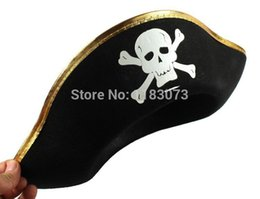 Wholesale Wholesale Pirate Caribbean Party - Wholesale-Bandanna Cap Pirate Hat Pirates Of The Caribbean Captain Hats Halloween Children Caps Props Party Supplies 10pcs FreeShipping