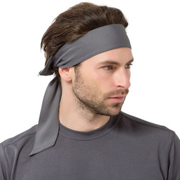 Wholesale Women Pirate Scarf - Europe and the United States outdoor solid men and women movement only sweat scarf running tennis fitness pirate headband trend S192