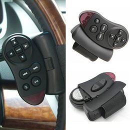 Wholesale Car Dvd Player Remote - Wholesale- Steering Wheel Universal IR Remote Control Fr GPS Car CD DVD TV MP3 Player