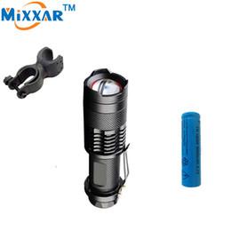 Wholesale tactical flashlight holder - 2500LM Bicycle Lanterna CREE XM-L2 LED Flashlight LED Tactical Bike Light Adjustable LED Torch Bicycle Flashlight+1*Holder+1*Battery