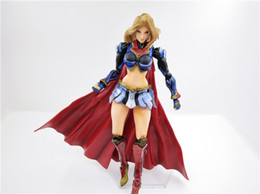 Wholesale sales role play - LilyToyFirm Hot Sale Play Arts Kai 26 cm Superhero Supergirl Manga DC Comics Style PVC Action Figure Toy Model