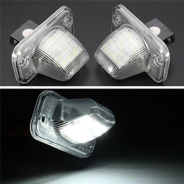 Discount vw led number - 2Pcs 18 LED License Plate Light Number Plate Lamp For Volkswagen VW T4 Transporter Passat Error Free
