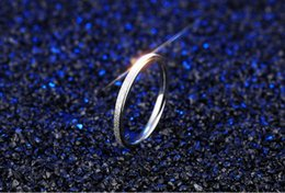 Wholesale Wholesale Titanium Ring Bulk - Hot!Fashion Titanium steel rose gold grinding rings For Couples Wholesale Cheap metal Jewelry Bulk Lots Mixed Size 4--8