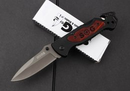 Wholesale Gear For Camping - SOG 36 Tactical knife 5Cr15Mov blade Single edge Automatic hunting knife folding knives for outdoor camping survival gear EDC pocket knife