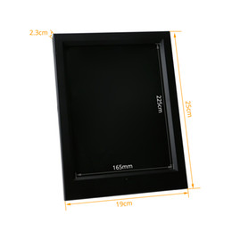 Wholesale Remote Usb Power - 7 RGB Lights LED Photo Frame for Acrylic Plate Laser Engraving With IR Remote Control DC 5V USB Powered Factory Wholesale