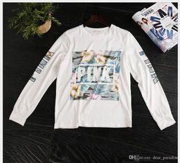 Wholesale Girls Hoodie Tshirt - Women Pink Letter Hoodie VS Pink Pullover Tops Brand TShirt Fashion Sweatshirt Long Sleeve Clothings Casual Sweater Girl Coat