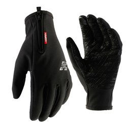 Wholesale Long Waterproof Gloves - 3 Colors Autumn Cycling Waterproof Long Full Finger MTB Road Bike Bicycle Winter Men Touch Screen Anti-slip Racing Riding Ciclismo Gloves