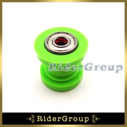 Wholesale Dirt Roller - Wholesale- Green Pulley Tensioner Chain 8mm Roller Guide For CRF50 XR50 KLX110 SSR Thumpstar Atomik Chinese Pit Dirt Bike Motorcycle