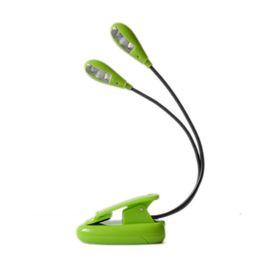 Canada Vente chaude Livre Lumières Mini Lecture Lumières Clip sur Double 2 Bras 4 LED Livre Lecture Musique Stand Lumière Lampe Offre