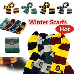Wholesale Striped School Scarves - New winter Scarf Gryffindor Scarves School Unisex Knitted Striped Scarfs Gryffindor Scarves Hufflepuff Scarfs Cosplay 4152