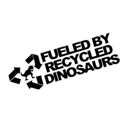 Wholesale Race Heads - Fueled By Recycled Dinosaurs Sticker Car Styling Funny Race Jdm Petrol Drift Vinyl Graphics Decals JDM