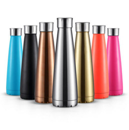 Wholesale Steel Camp Mug - Cola Sports Kettle Stainless Steel Coke Waters Bottle Vacuum Insulation Cup Bowling Shaped Mugs Water Bottles OOA1864