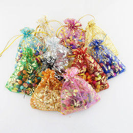 Wholesale Weding Bag - Wholesale 100pcs lot 7x9cm Jewelry Organza Gift Bags Can Be Customized Drawstring Chirstmas Organza Bags Candy bag Weding Decation
