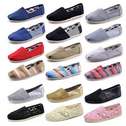 Wholesale Green Sequin Shoes - HOT Size 35-45 Brand New Fashion Men Women Solid sequins Flats Shoes Sneakers Women and Men Canvas Classic loafers casual shoes Espadrilles