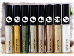 Wholesale White Liquid Liner - New Shiny Eye Liner Glitter Eyeshadow Liquid Shining Eyeliner Bronzer Gold Shimmer Makeup Maquiagem Free Shipping