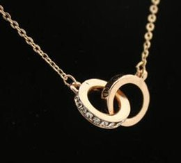 Wholesale Double Loop Chains - Couples double loop fastener deserve to act the role of fashion accessories collarbone short chain necklace for men and women