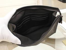 Wholesale Ladies Black Leather Coats - Black Eclipse Canvas Coated Real Leather Lady Handbag POCHETTE VOYAGE MM M61692 Women Luxury Designer Clutch Bag