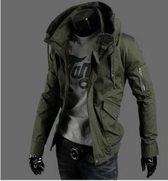 Wholesale Clothing Thin Men - S~5XL! 2017 New Men's clothing plus size Casual jacket thin size slim youth tide washed jacket collar