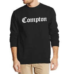Wholesale Compton Sweatshirt - Wholesale-hip hop style autumn winter 2016 new fashion Compton print sweatshirt men hoodies cool streetwear tracksuit high quality fleece