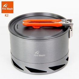 Wholesale Outdoor Heat Exchanger - Fire Maple Kettle Portable Foldable Handle Heat Exchanger Pot Picnic Cookware Aluminum 338g 1.5L for Outdoor Camping FMC-K2