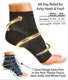 Wholesale Foot Pains - Wholesale- Men Women FOOT ANGEL Sleeve Arch Heel Pain Relief Support Ankle Compression