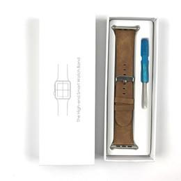 Pomme blanche en Ligne-Personnaliser en gros Logo Boîte d'emballage universelle pour Apple Watch Marque Retial Livre blanc Paquet Cadeau Pack