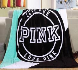 Wholesale Bedspread Fabrics - free shippingnew Arrivals 130*150cm Pink Secret cobertor Fleece Blanket Throws Soft Plaids Bedspread Limited Battaniye Car  TV  Sofa Blanket