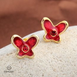 Wholesale Cheapest Wholesale Jewelry - Cheapest designer gold plated earring butterfly style stud earrings gift for girlfriend new fashion facncy jewelry wholesales