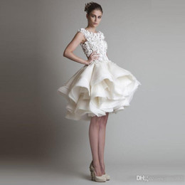 Wholesale Elie Saab Cocktail - High quality Elie saab off white ball gown Evening Dresses 2017 free shipping hand flowers Cascading Ruffles Formal Evening Gowns cheap sale