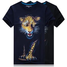 Wholesale Leopard Print Mens Tees - Animal Leopard Printed Creative Funny T Shirt Men T-shirt Mens 2017 Short Sleeve Cotton Tshirt Tee Camisetas Hombre Plus size 3XL-6XL