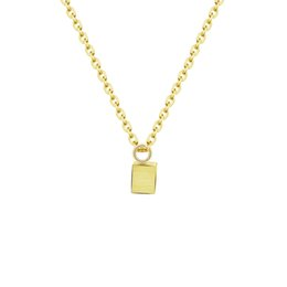 Wholesale Gifts For Bridesmaids - Wholesale 10Pcs lot 2017 New Arrival Bridesmaid Gifts Stainless Steel Jewelry Pendant Gold Colour 3D Cube Choker Necklaces For Women Men