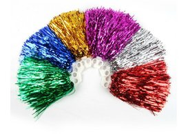 Wholesale Cheerleading Pompoms - Free Shipping .Cheering Pompom Cheerleading Metallic Pom Pom Cheerleading Products ,20G ,7Colours