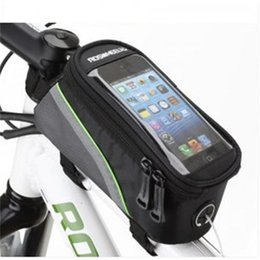 Wholesale Mobile S Bag - Bicycle Bags Cycling Bike Frame Iphone Bags Holder Pannier With Mobile Phone Holder   Mount. Compatible With iPhones, Samsung Galaxy & More